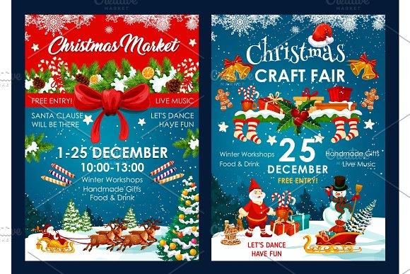 Christmas fair decoration vector - Illustrations