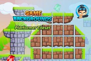 Plat Former Tile Set Game BG 11