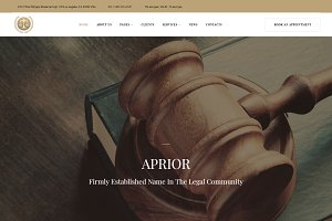 Aprior - Lawyer WordPress Theme