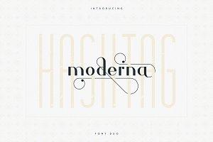 Hashtag Moderna - duo font + Extra