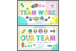 Teamwork Colorful Promo Banners