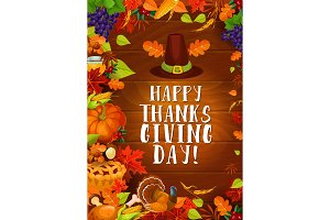 Thanksgiving autumn harvest greeting