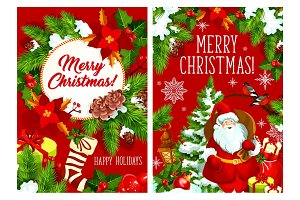Merry Christmas vector greeting