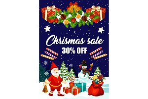 Christmas sale banner of price offer