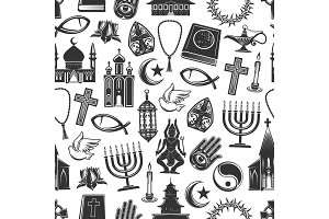 Religion seamless pattern