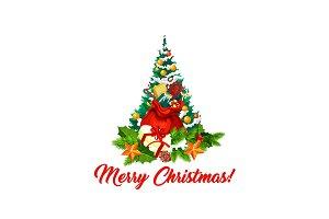 Merry Christmas tree decorations