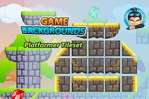 Plat Former Tile Set Game BG 12