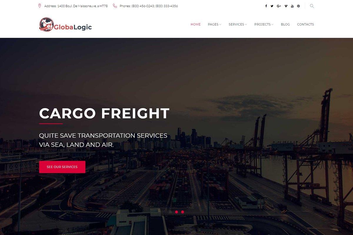 GlobaLogic Logistic WordPress Theme