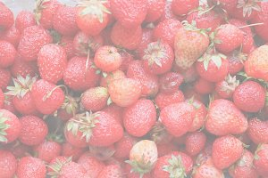 Strawberry fruits detail, soft faded