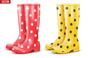 Set of Pair rain boots