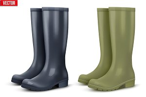 Set of work rain boots