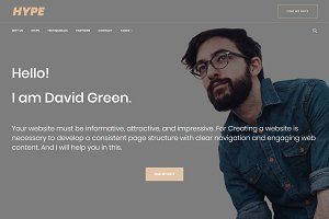 Hype - Freelancer WordPress Theme