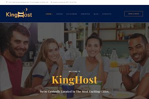 KingHost - Hostel WordPress Theme