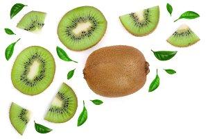 sliced kiwi fruit decorated with