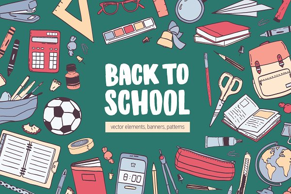 Illustrations and Illustration Products: Good_Studio - Back to school
