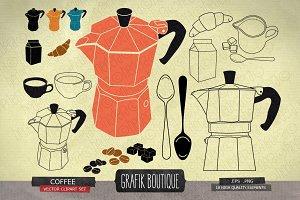 Vintage coffee, moka, espresso