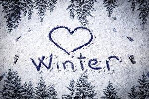 love winter background