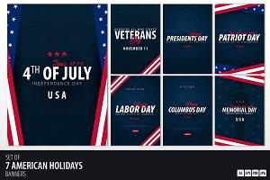 Public American Holidays