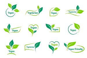 Bio, Ecology. Vector vegan sticker
