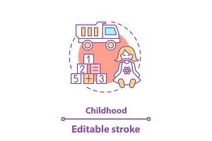Kids toys concept icon