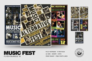 Music Festival Flyer Bundle V1