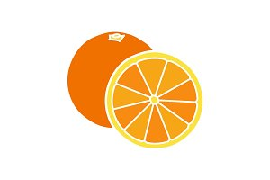 Orange glyph color icon
