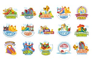 playground labels. aqua water park
