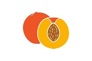 Peach glyph color icon