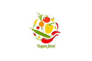 Icon of vegetables. Logo design