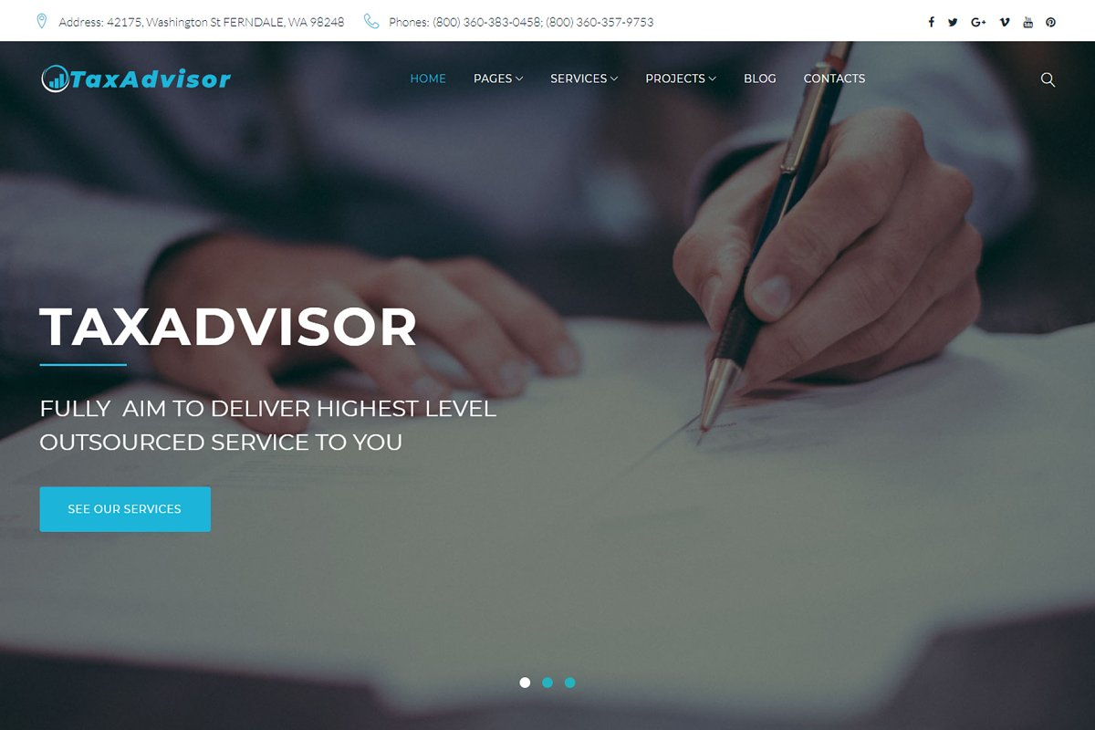 TaxAdvisor Financial WordPress Theme