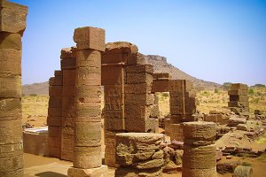 Ruins of Naqa Meroe, ancient Kush, S