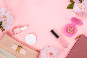 Beauty set with decorative cosmetics