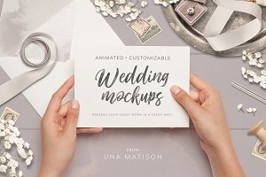 Animated Custom Wedding mockups