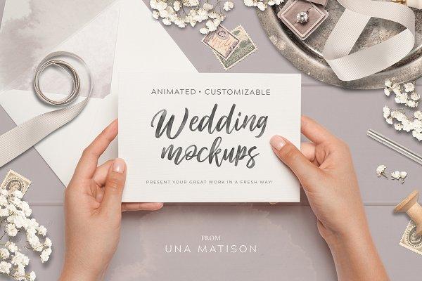 Product Mockups: Una Matison - Animated Custom Wedding mockups