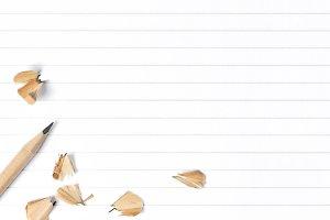 White empty lined paper sheet School