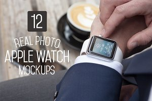 12 Apple Watch Mockups