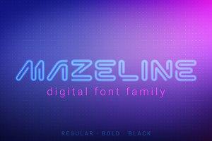 MazeLine Font