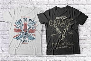 Motorcycle t-shirts set