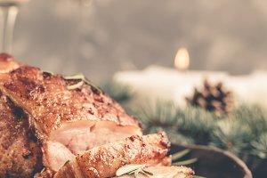 Baked Christmas pork (ham)