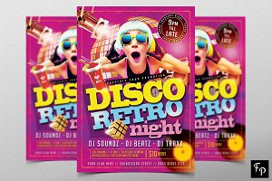 Disco Retro Flyer