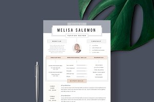 "Resume Template 1 page | ""Madrid"""