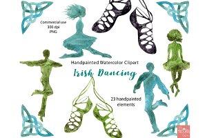 Irish Dancing Watercolor Graphics