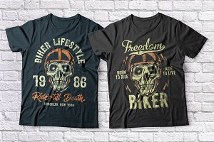 Biker t-shirts set