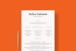 "Resume Template 1 page | ""Venice"""