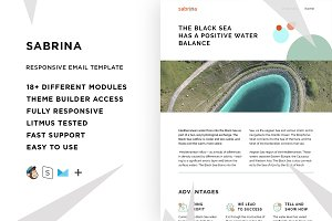 Sabrina – Email template + Builder