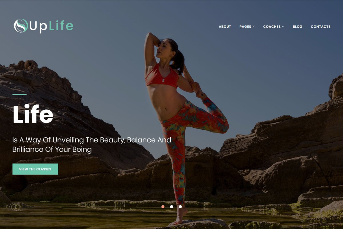 UpLife - Holistic WordPress Theme