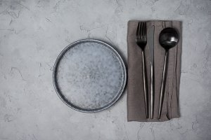 background with kitchenware
