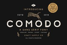 Comodo Font Family + Illustrations by  in Sans Serif Fonts