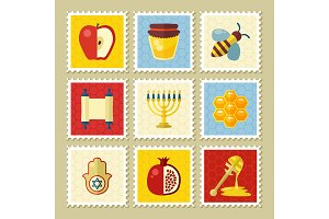 Rosh Hashanah stamp. Shana tova