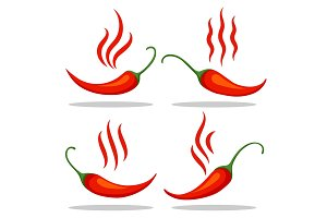 Red tabasco pepper icons